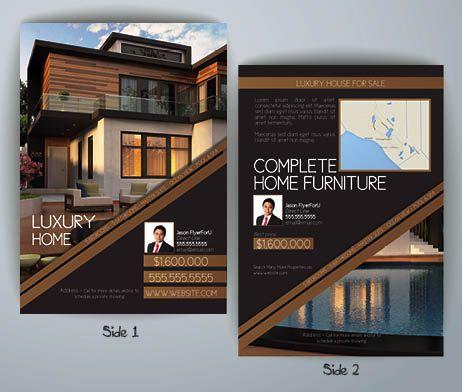 Realtor Brochure Template Contemporary \ Modern Real Estate Flyer - contemporary flyer