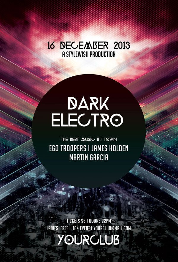 Dark Electro Flyer by styleWish on Graphicriver (PSD Template - electro flyer