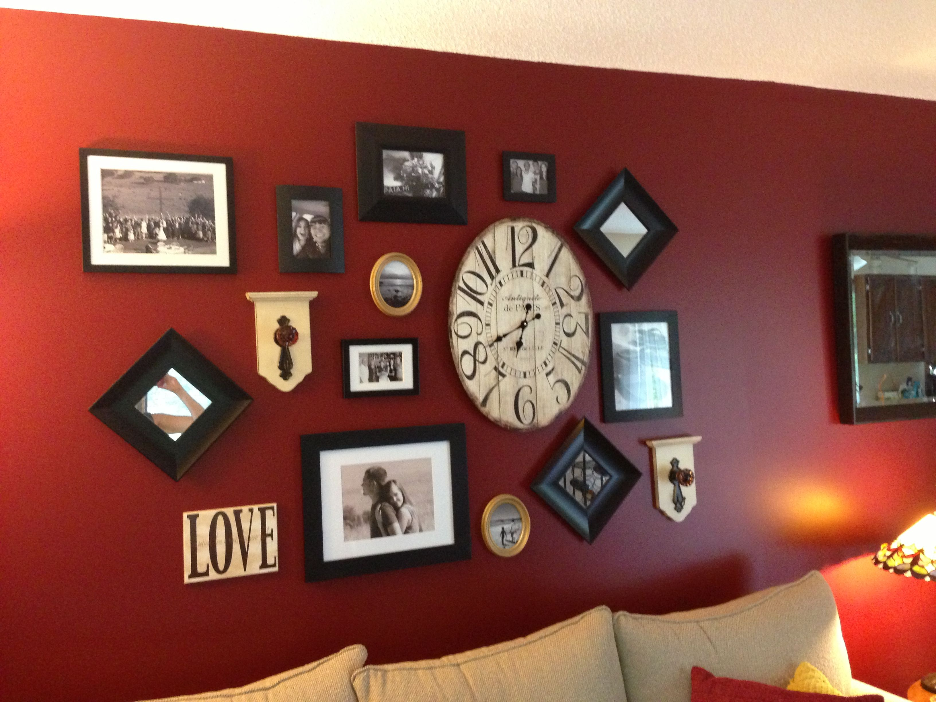 Red Wall Living Room Living Room Wall Decor Wall Collage Red Wall Living