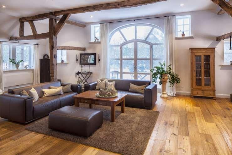 Holzbalken Im Wohnzimmer. Tolles Ideen Fr Die Hauses Holzbalken In ...