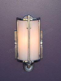 Vintage Bathroom Lighting   Antique Mid 30s Chrome Vintage ...