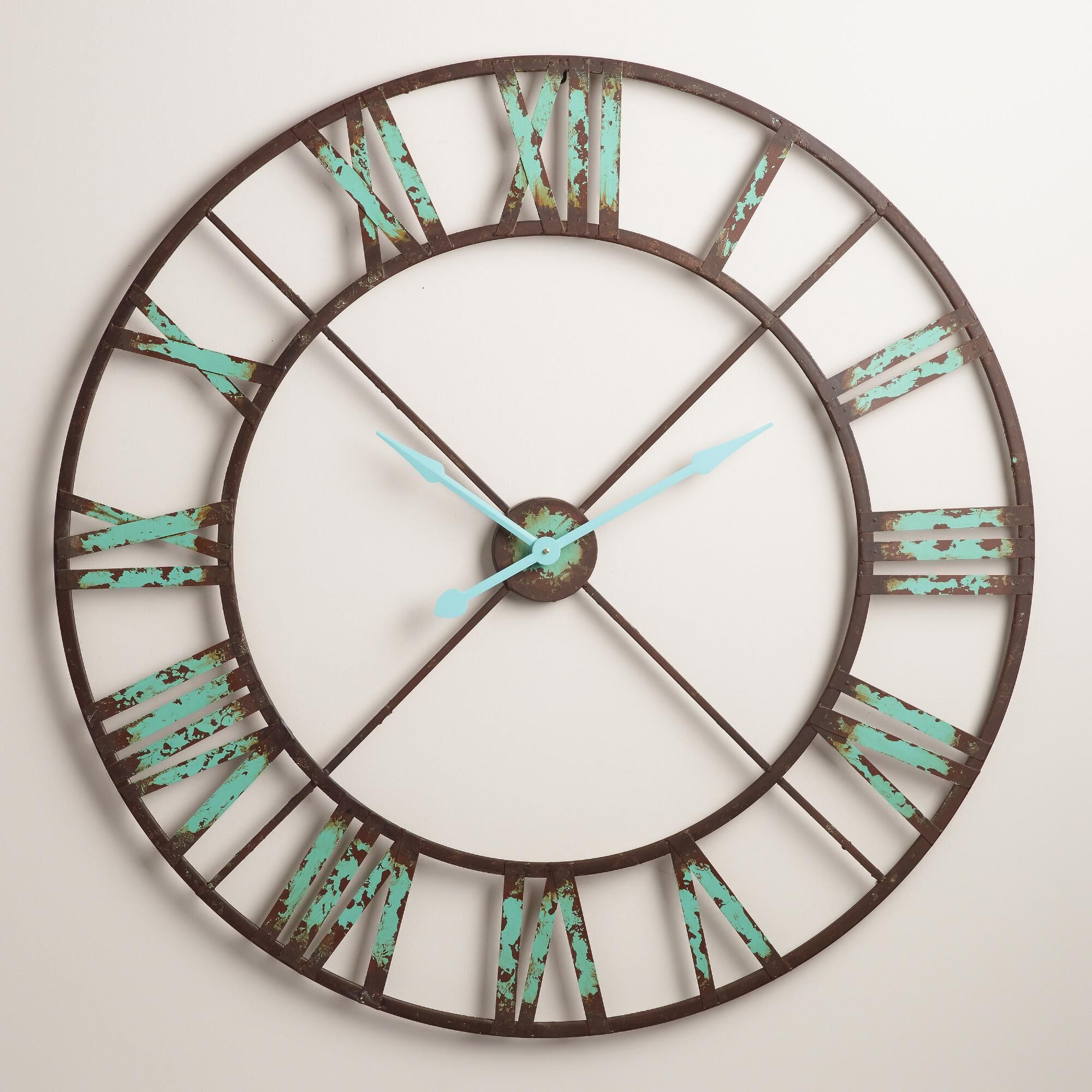 Statement Wall Clocks Industrial Reed Wall Clock Architectural Salvage Clocks