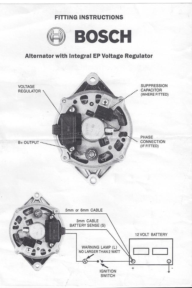 bosch alternator wiring diagram further cs one wire alternator