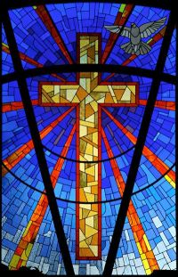 Religious Stained Glass Window Cross | north florida ...