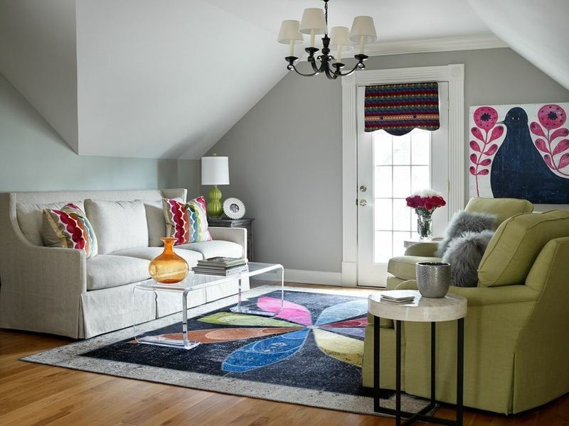 wall paint Mindful Gray, Sherwin-Williams; trim paint - mindful gray living room