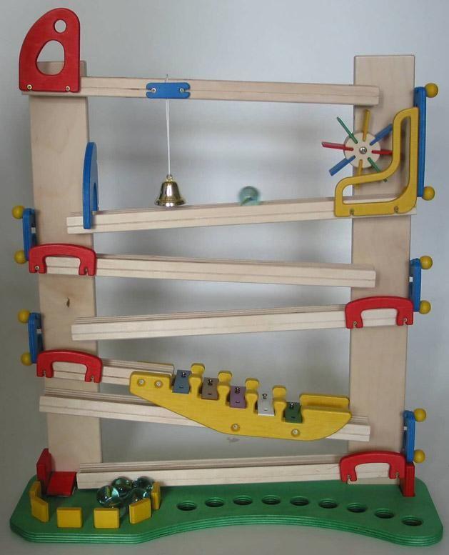 Kugelbahn Modell Klangbahn   Mühle, Von Bimmelbahn \ Co (http   Holz  Esstisch Design