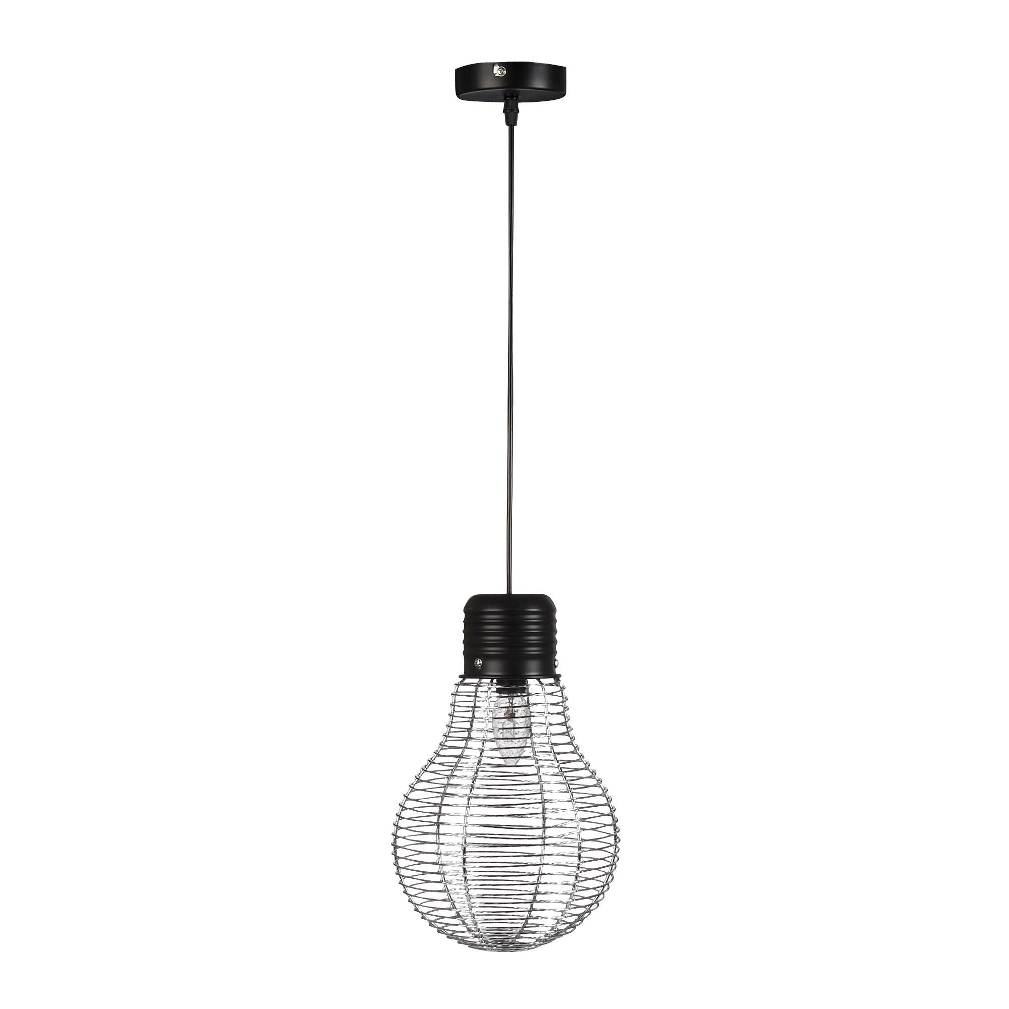 Alinea Lustre Simple Suspension Lumire Acier Hcm Noirchrome Bombilla Les