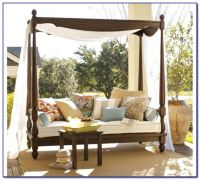 Patio Daybed Canopy Gazebo Swingcalm Day Bed With Rattan ...