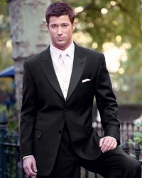 Pics For > Black Tuxedo With Black Shirt And White Tie