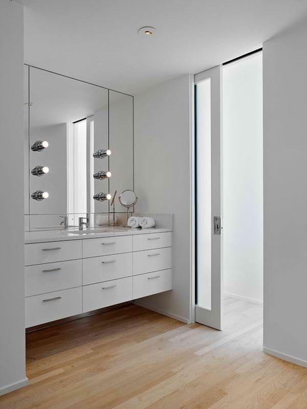 Strak weiße Badezimmer kann Ihr Schlafzimmer Gestaltung - badezimmer im keller