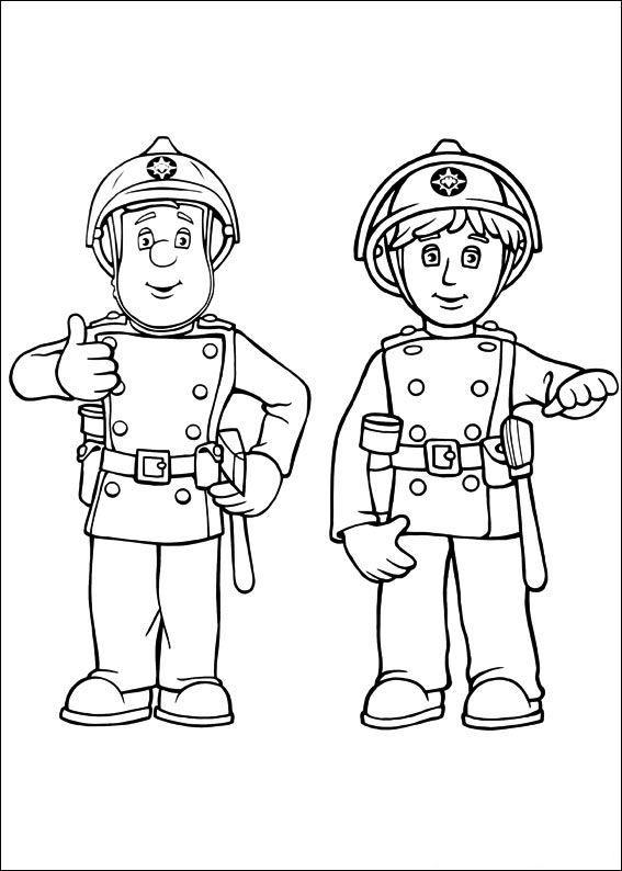 Ausmalbild Feuerwehrmann Sam Feuerwehrmann Sam
