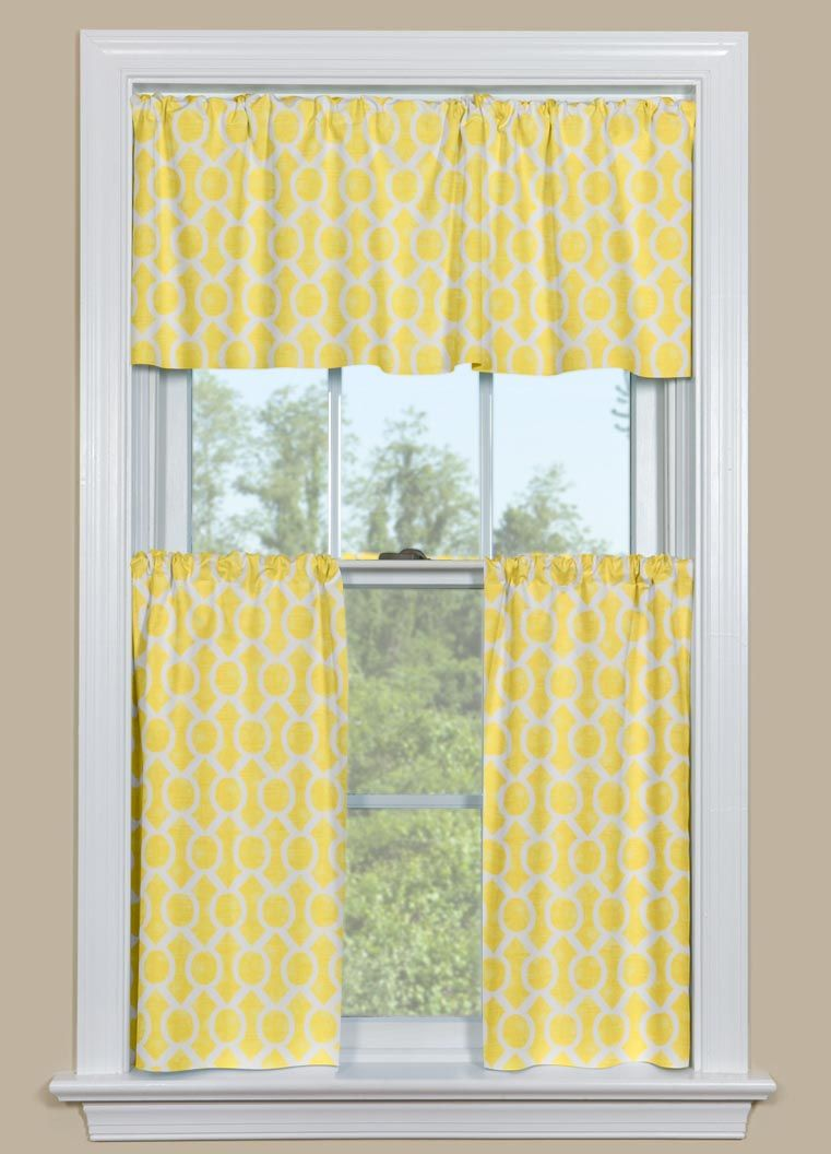 Kitchen cafe curtains -  Cafe Curtains Yellow Kitchen Curtains Valances Download