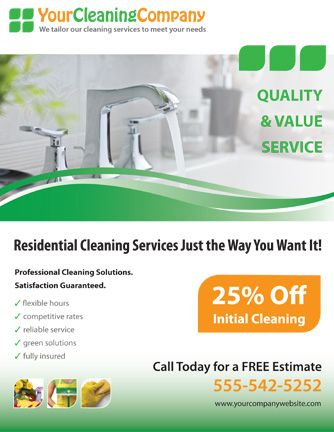 Promote your cleaning company with this house cleaning services - house cleaning flyer template