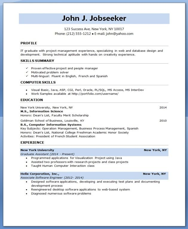 software engineer resumes Creative Resume Design Templates Word - software development resume