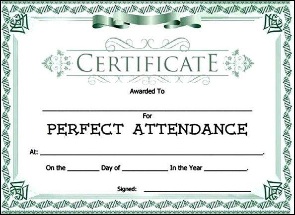 Attendance Award Certificate Template Sample Templates Yang - attendance certificate template