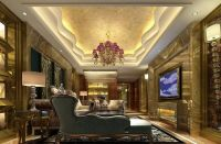 luxurious gypsum ceiling decoration for villa living room ...