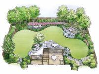 Eplans Landscape Plan - Water Garden Landscape from Eplans ...