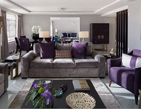 House Tours Be inspired by the new season colours and appealing - purple living room set