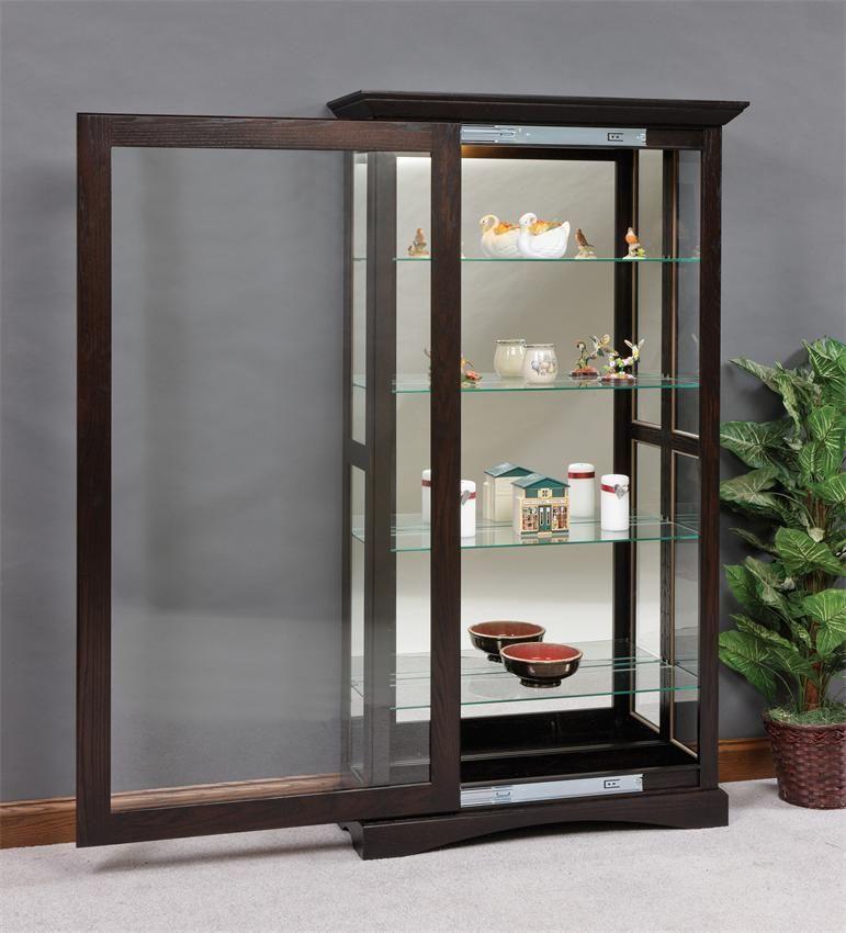 Mission Sliding Door Curio Cabinet