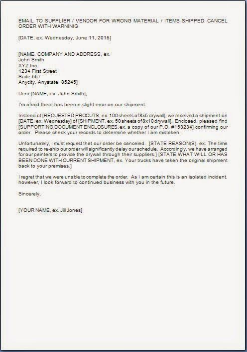 example of purchase order letter