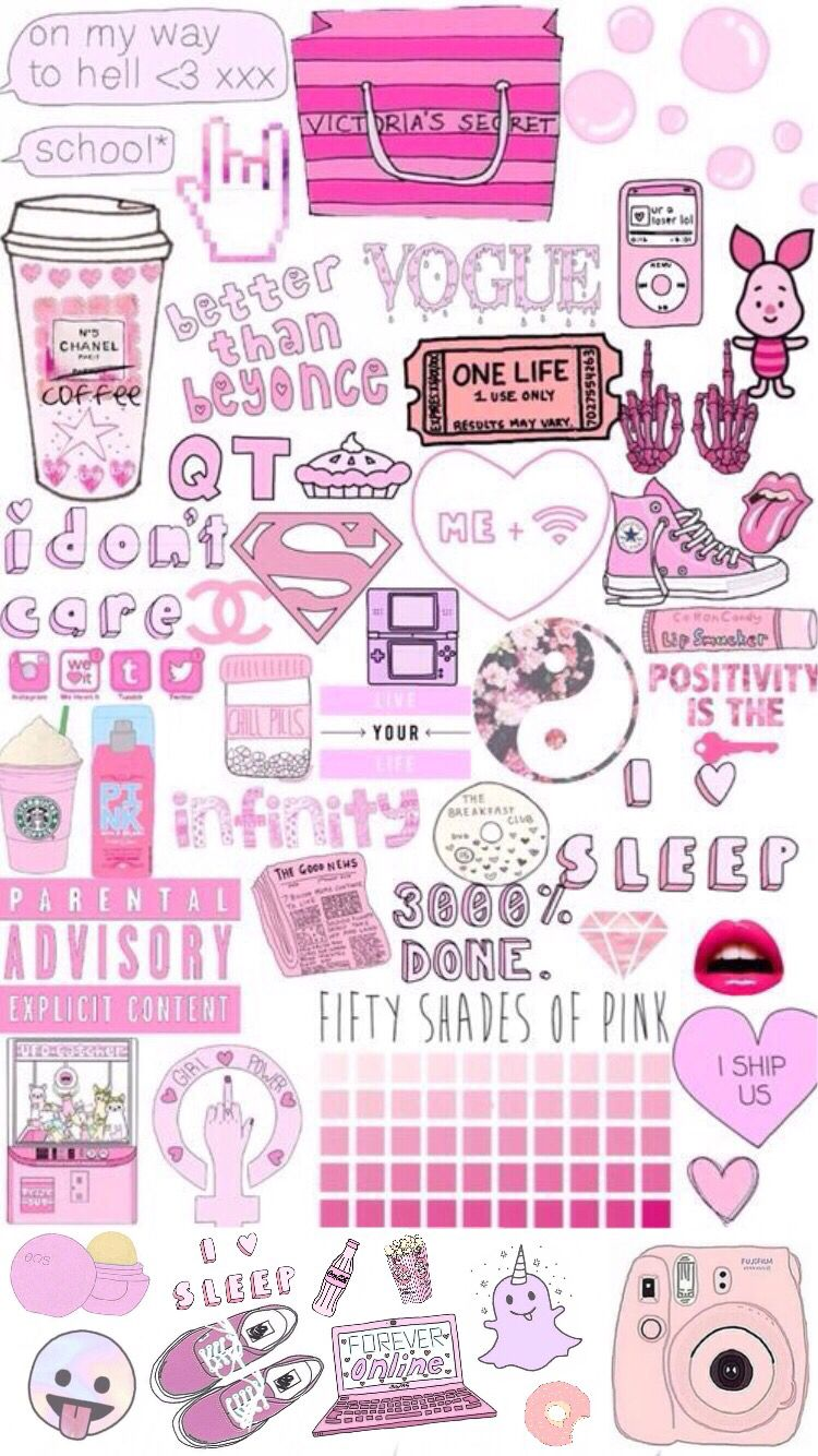 Super Cute Girly Wallpaper Girly Collage Tumblr Www Imgkid Com The Image Kid Has It