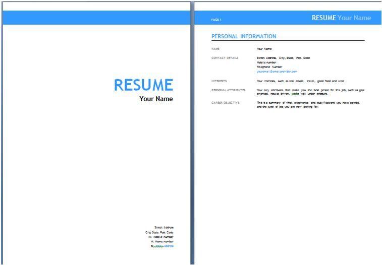 pmo resume sample resume cv cover letter templates resume cover - cover page template word free