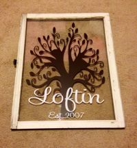 Old window & Vinyl Decal. I'm in LOVE! | cameo | Pinterest ...