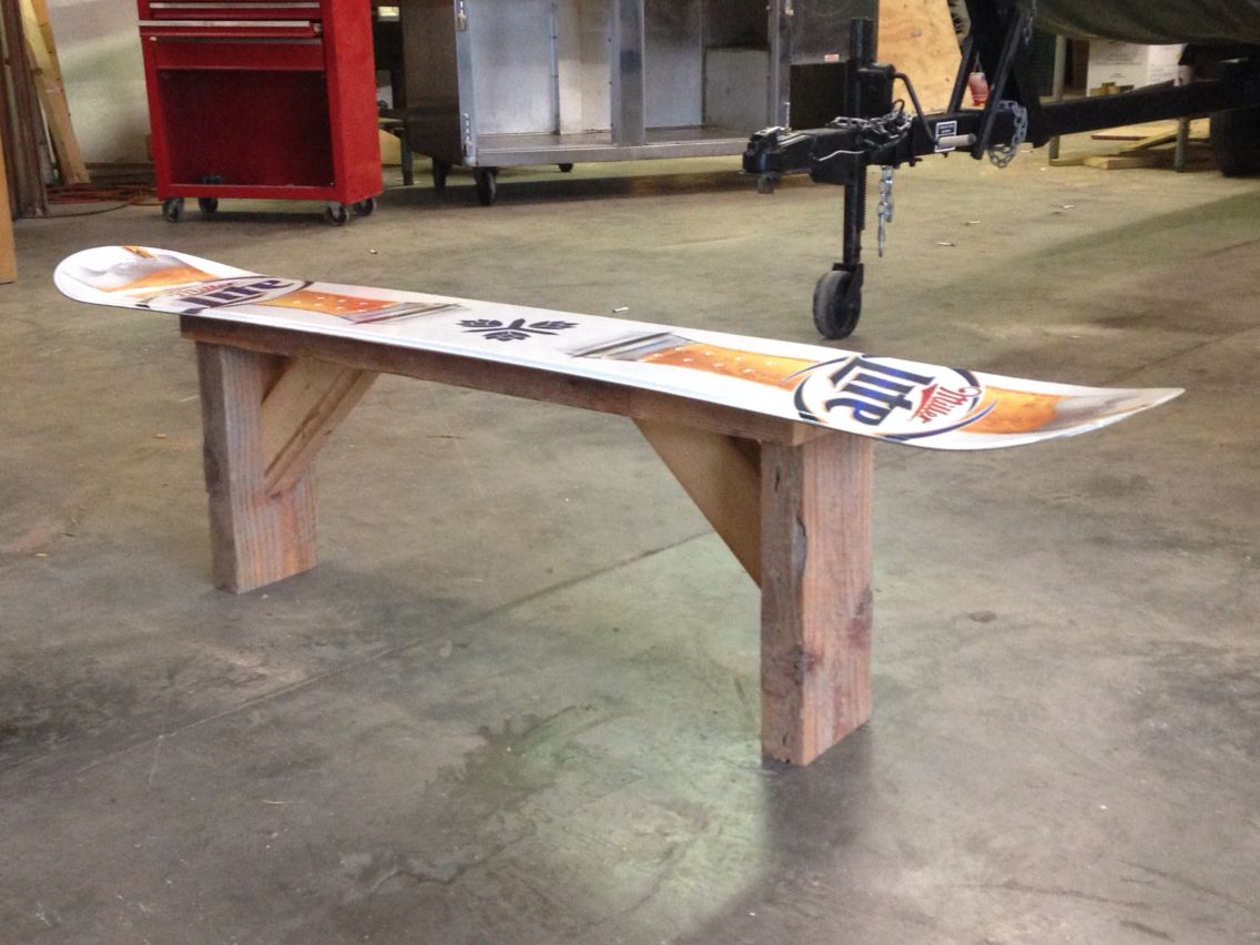 Snowboard Bank Snowboard Bench Woodwork Pinterest Benches And