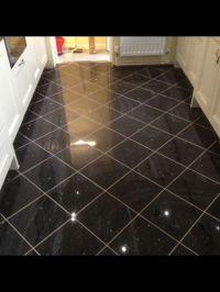 Black galaxy granite floor tile | Black | Pinterest ...