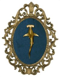 Hammerhead Shark - Victorian Framed Object - Wall Art ...