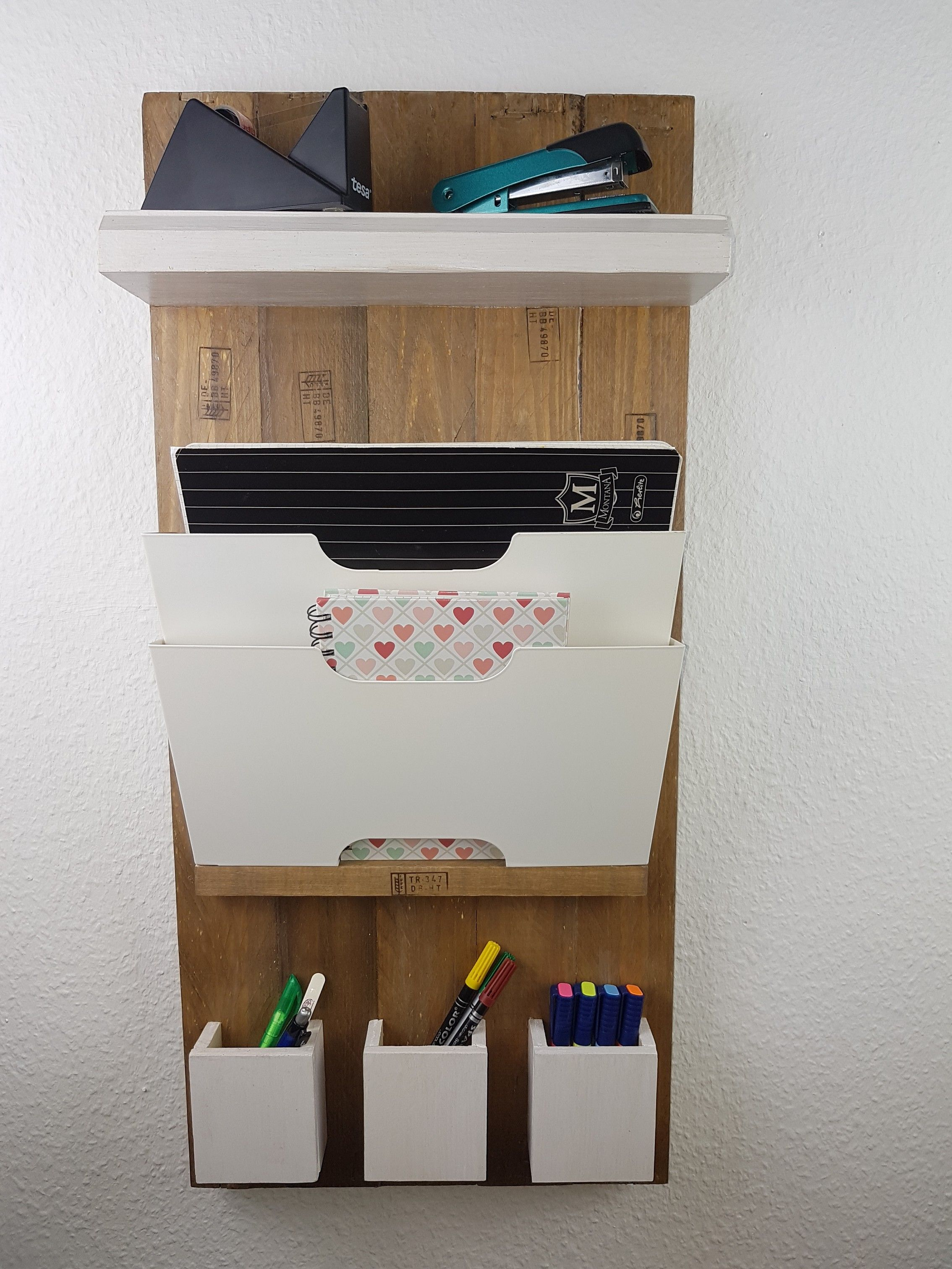 Wandregal Ordner Upcycling Organizer Wandregal Board Deko Upcycling
