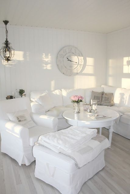 All Shades Of White 30 Beautiful Living Room Designs DigsDigs - all white living room