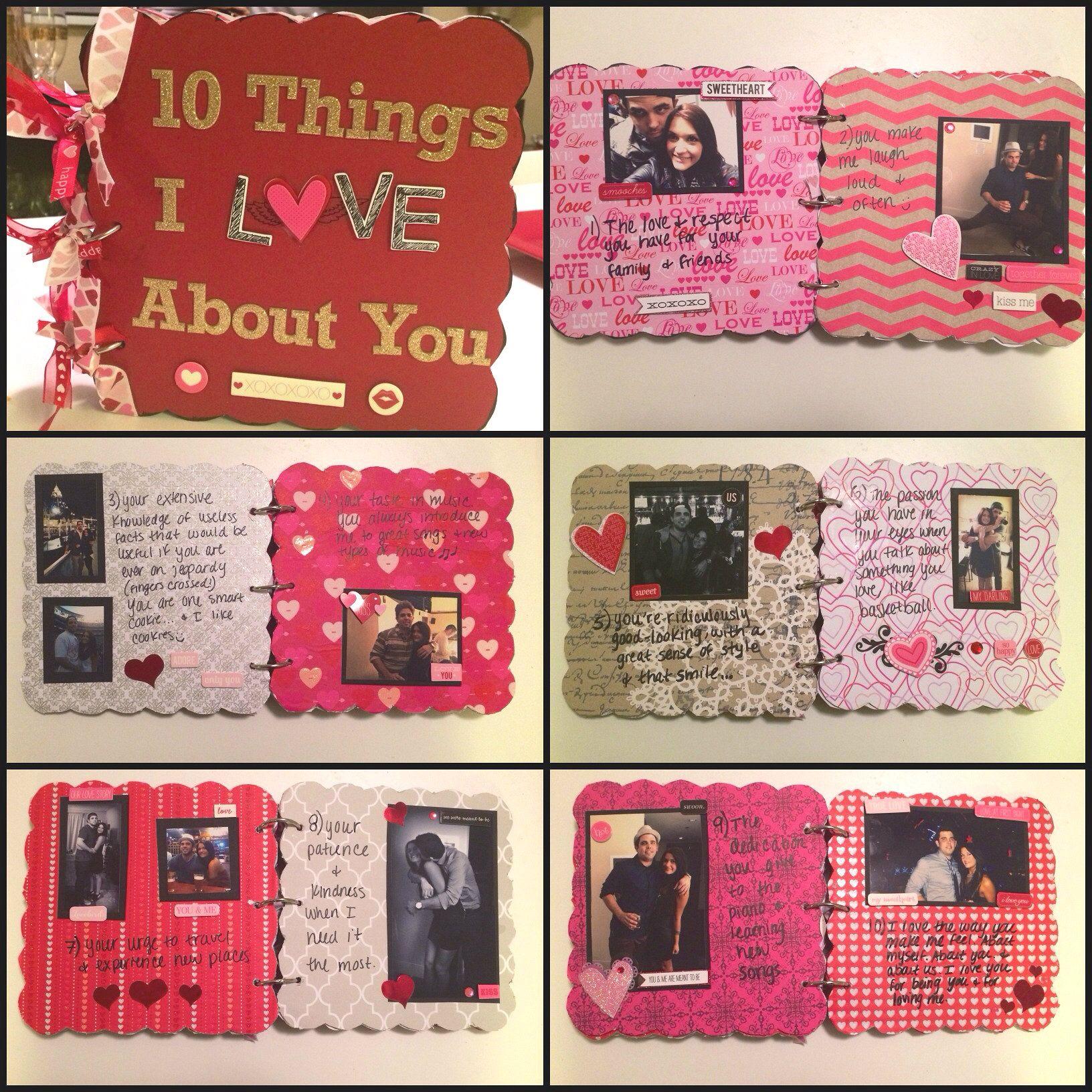 Boyfriend gift idea chipboard scrapbook