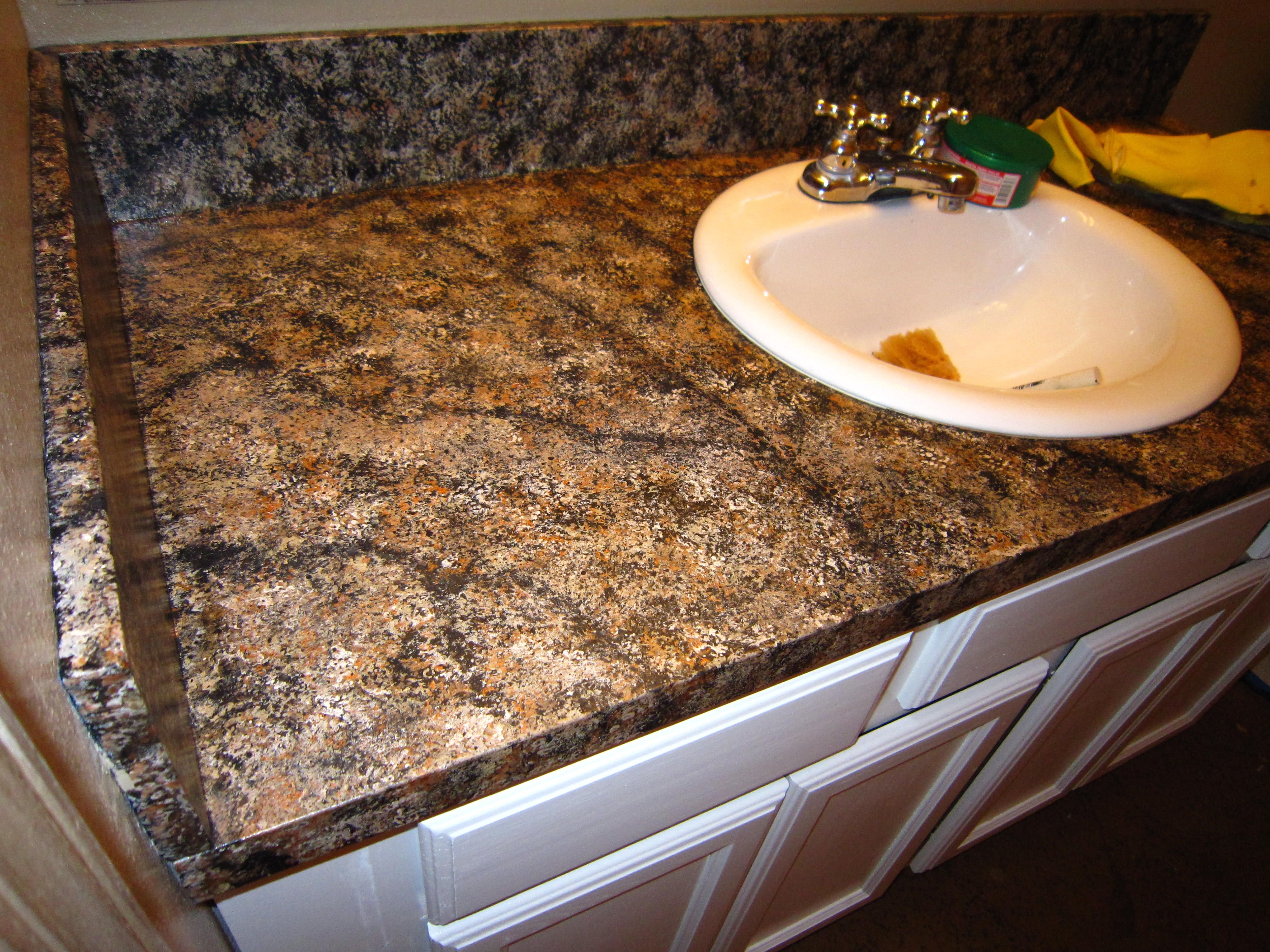 Marble Countertop Paint Kit Diy Faux Granite Countertop Without A Kit For Under 60