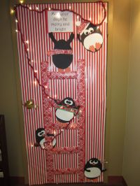 Christmas Penguin Door Decorations