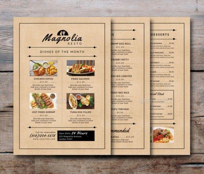 a la carte menu template cvresumecloudunispaceio - a la carte menu template