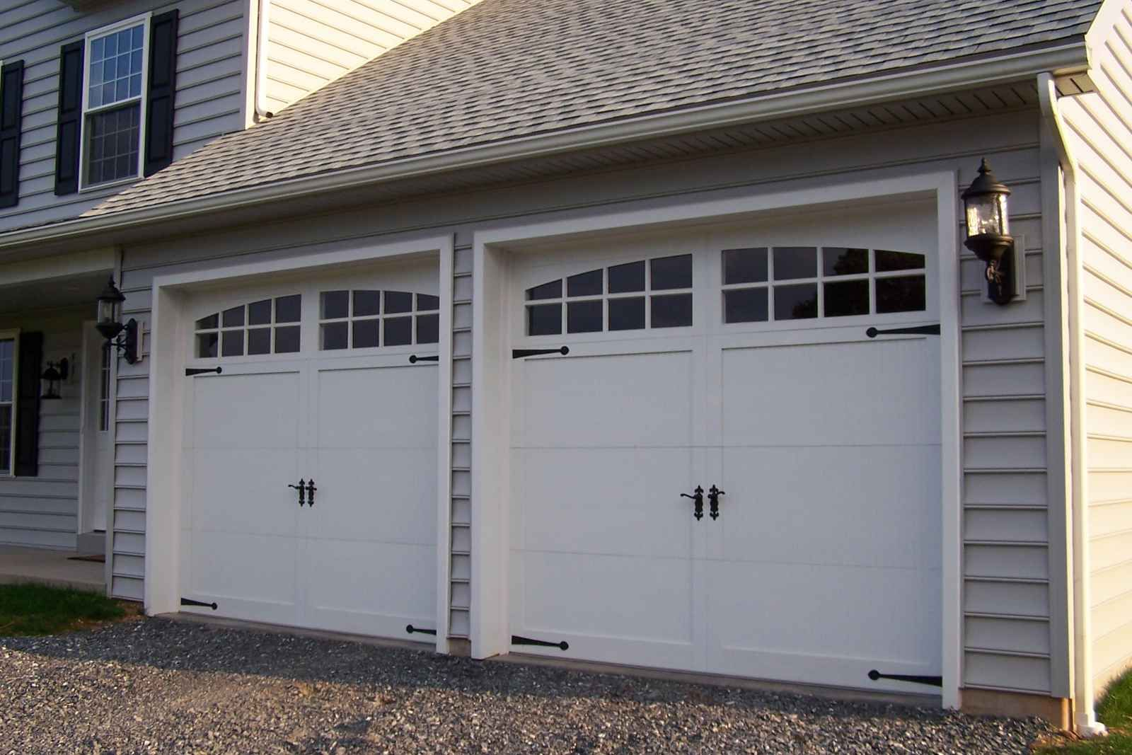 1067 #AA7F21  Steel Carriage House Garage Doors On Pinterest Steel Garage Arches And save image Ab Garage Doors 36471600