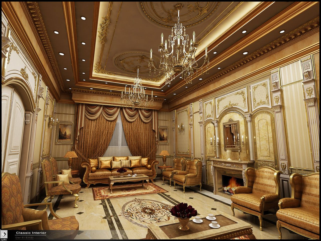 Classic Home Design Classic Interior In Ksa By Amr Maged Deviantart On