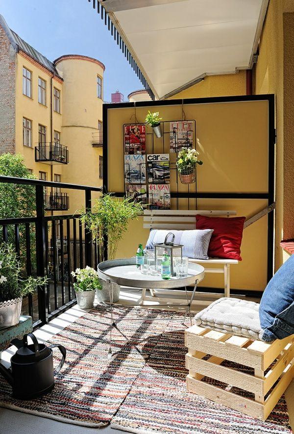 Kleinen Balkon gestalten - Laden Sie den Sommer zu sich ein mini - mini balkon gestalten