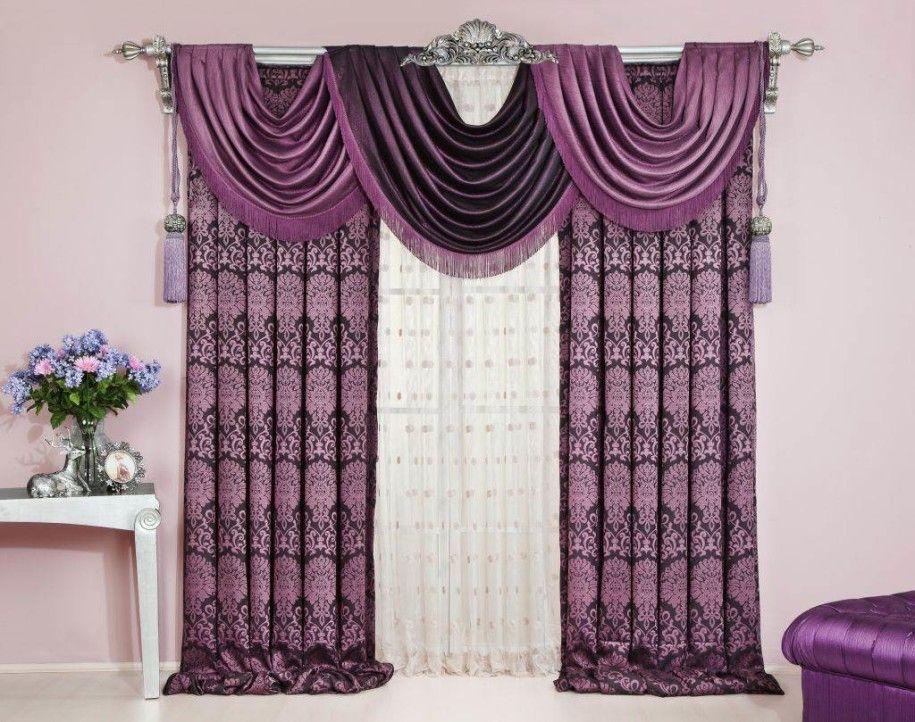 Living Room Curtains Swag Purple Enchanting Purple Curtain - swag curtains for living room