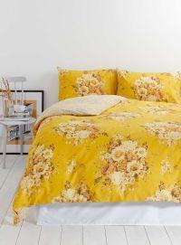 Photo 2 of Vintage Nostalgia Yellow Floral Bedding Set | I ...