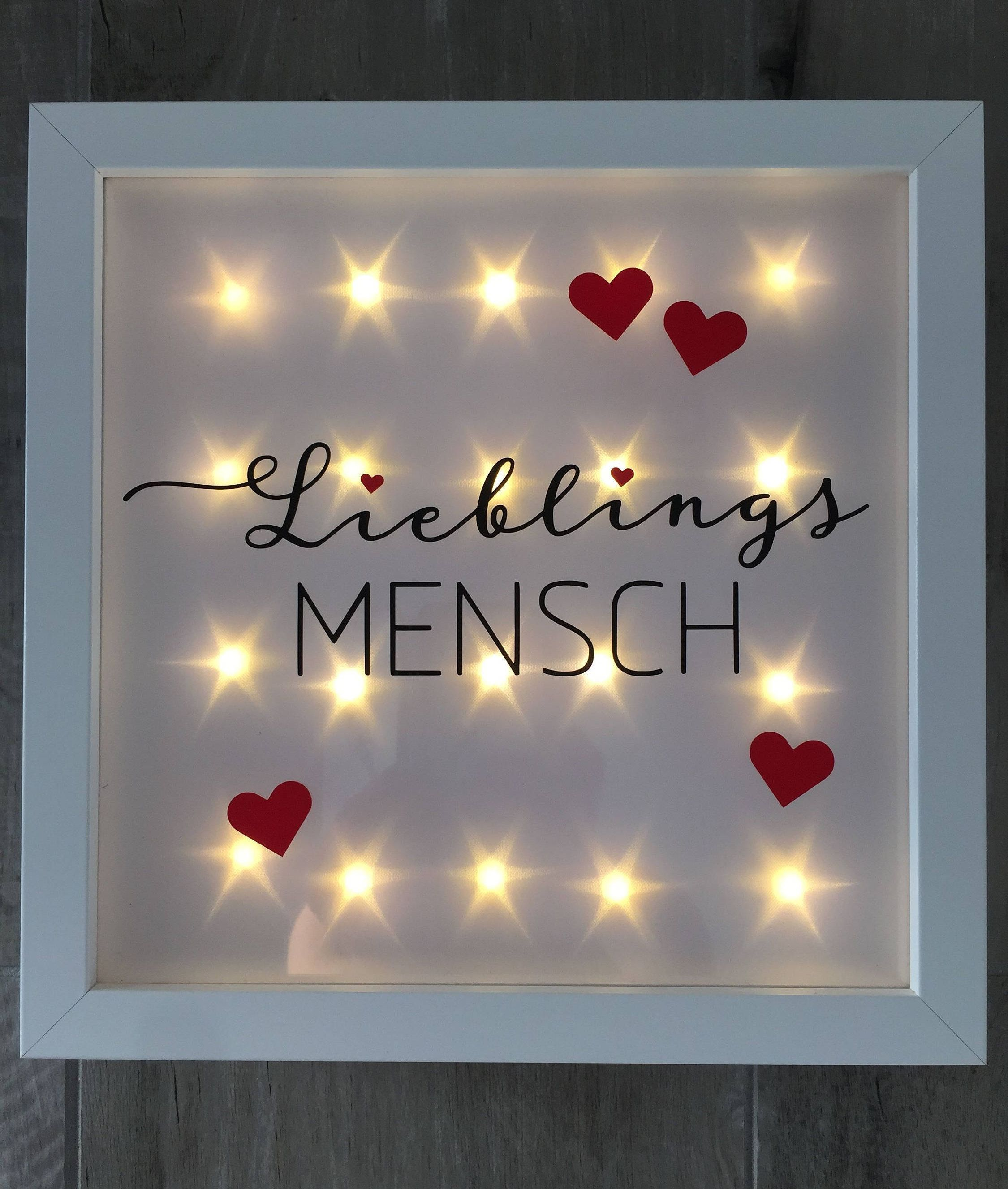 Beleuchtete Bilderrahmen Gift For Dear People Friends Illuminated Picture Frame