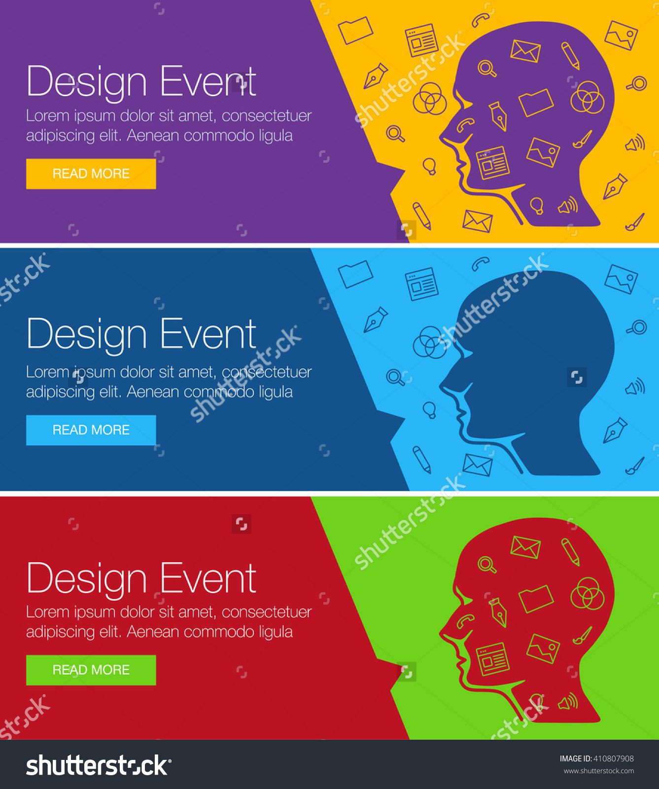 Poster design for event online course training workshop banner design of ideas