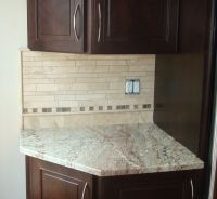 examples of travertine backsplashes edging - Google Search ...