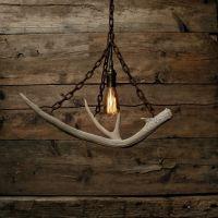The Durango Chandelier - Antler Pendant Light - Rustic ...