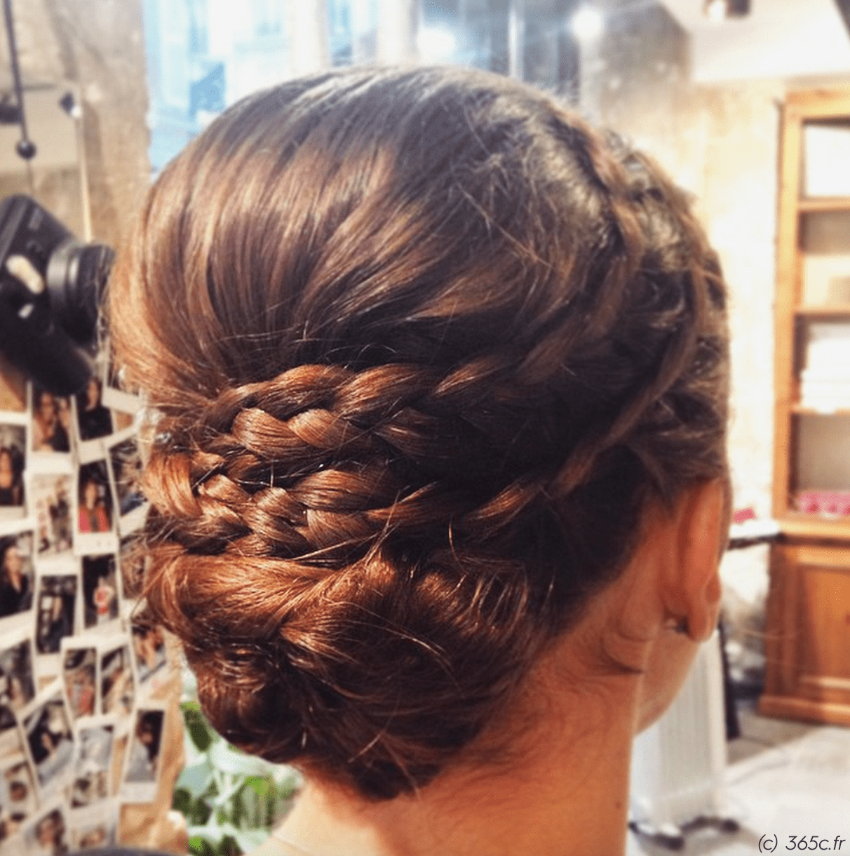 Coiffure 365c Hairstyle Updo Wedding Hairstyle Braid Brown Hair