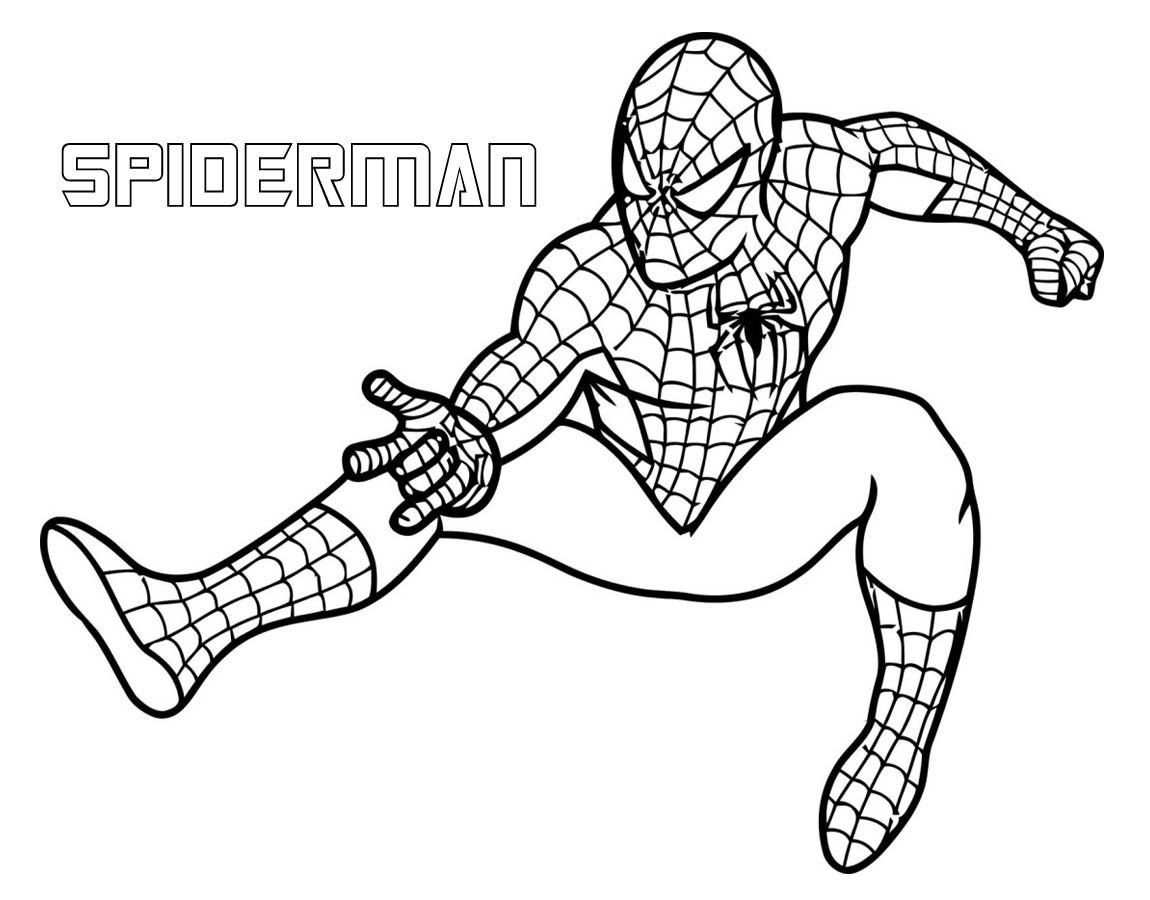 Download spiderman superhero coloring pages for free
