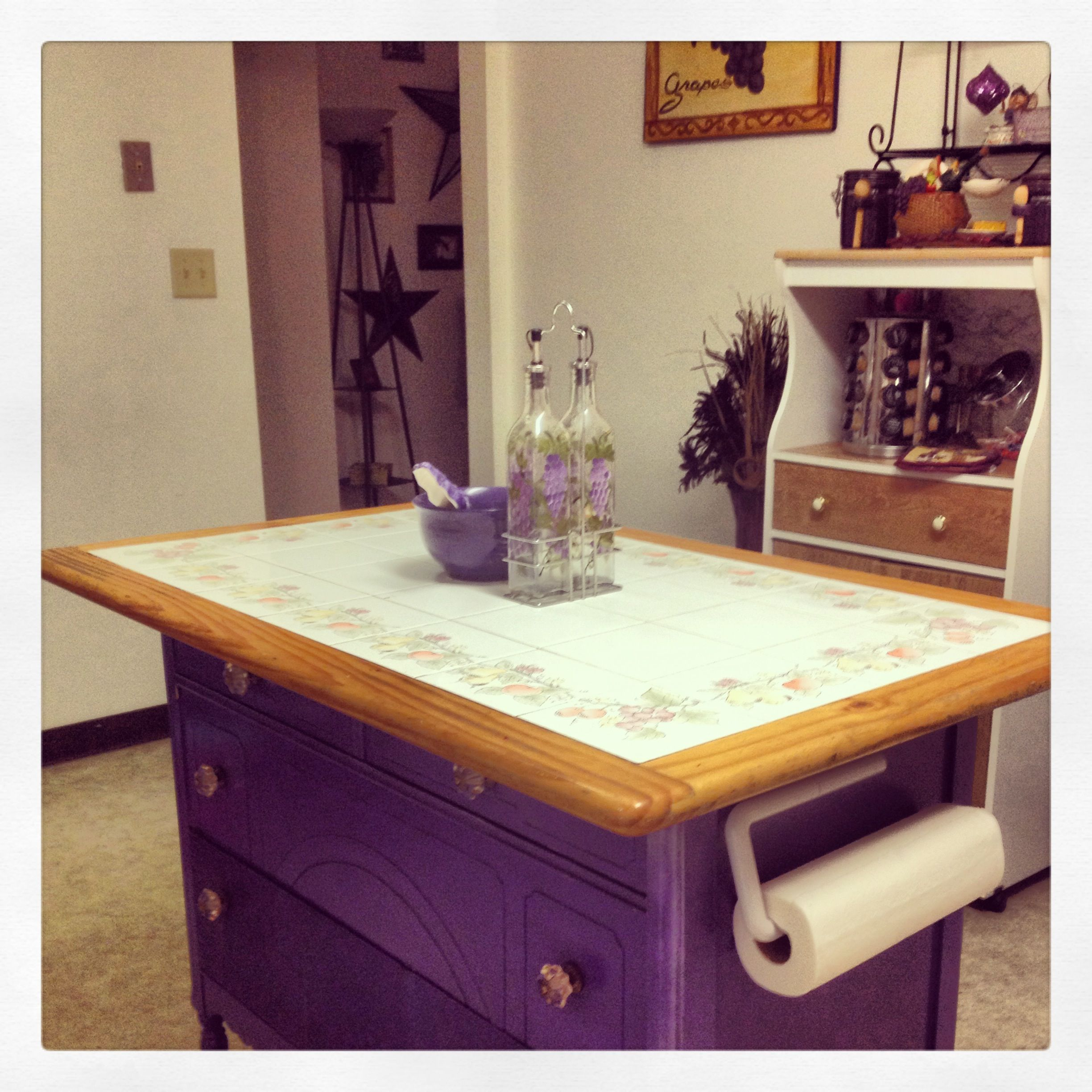 Kitchen Cabinets Made Into Island Old Kitchen Table And An Old Dresser Made Into A Kitchen