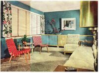 late 1940's interior decorating style | Late 1940's Living ...