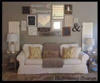 Living Room decor - rustic farmhouse style. Rustic taller ...